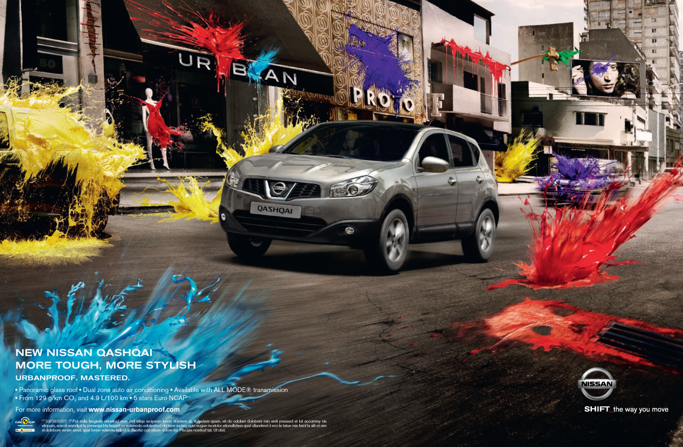Музыка из рекламы Nissan Qashqai – Urban Proof - Artistic Paintball