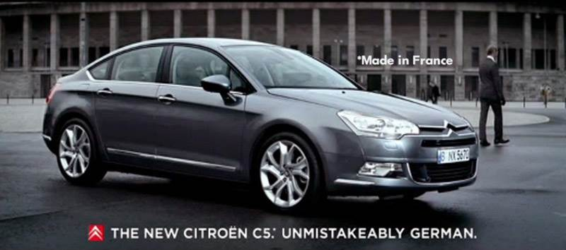 Музыка из рекламы автомобиля Citroen C5 - Unmistakeably German
