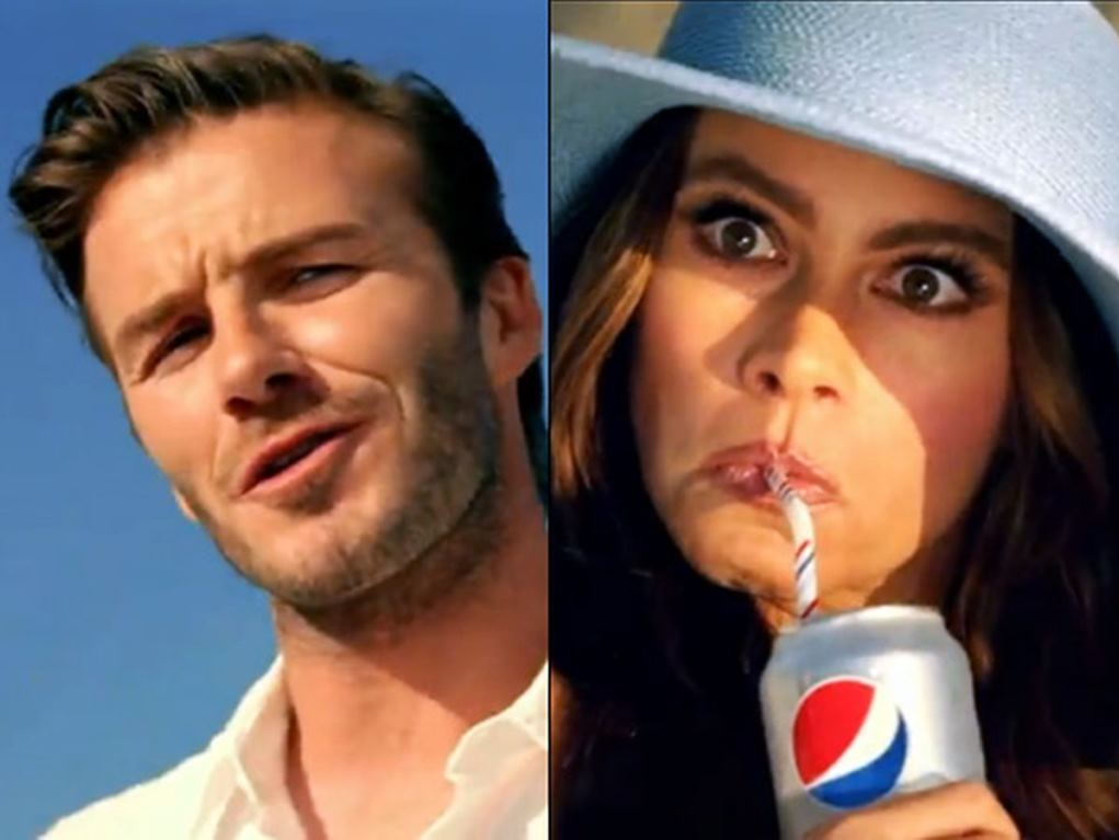 Музыка из рекламы Pepsi Diet - Beach Tweet (David Beckham, Sofia Vergara)