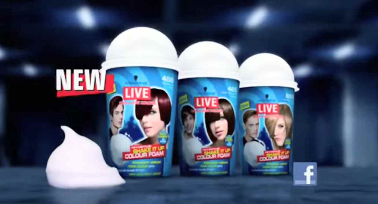 Музыка из рекламы Schwarzkopf Live Colour XXL – Shake It Up