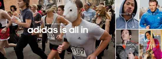 Музыка из рекламы Adidas - We All Run (David Beckham, Lionel Messi, Derrick Rose, Katy Perry)