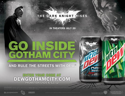 Музыка и видеоролик из рекламы Mountain Dew - The Dark Knight Rises