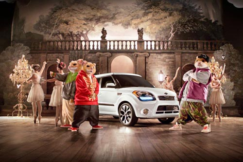 Музыка и видеоролик из рекламы Kia Soul Hamster - Bringing Down the House