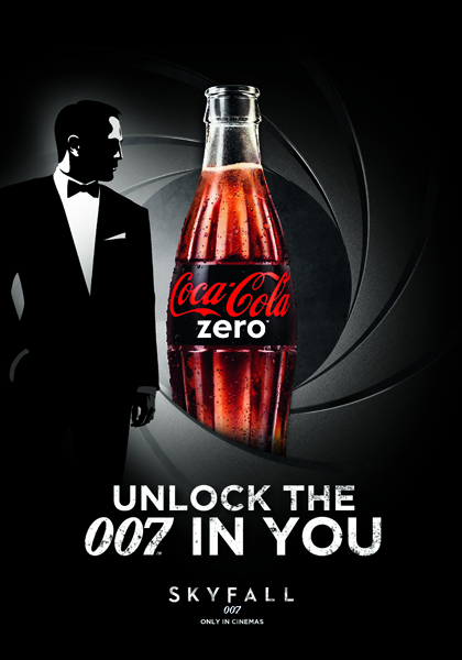Музыка и видеоролик из рекламы Coca Cola Zero - Unlock the 007 in you - Skyfall