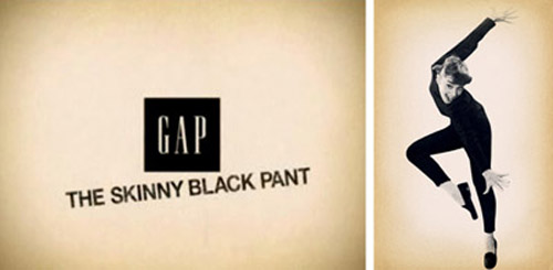 Музыка и видеоролик из рекламы Gap - The Skinny Black Pant