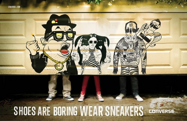 Музыка и видеоролик из рекламы Converse - Shoes are Boring. Wear Sneakers