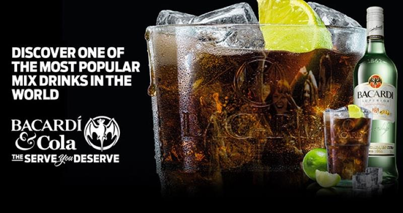 Музыка и видеоролик из рекламы Bacardi & Cola - The Serve You Deserve