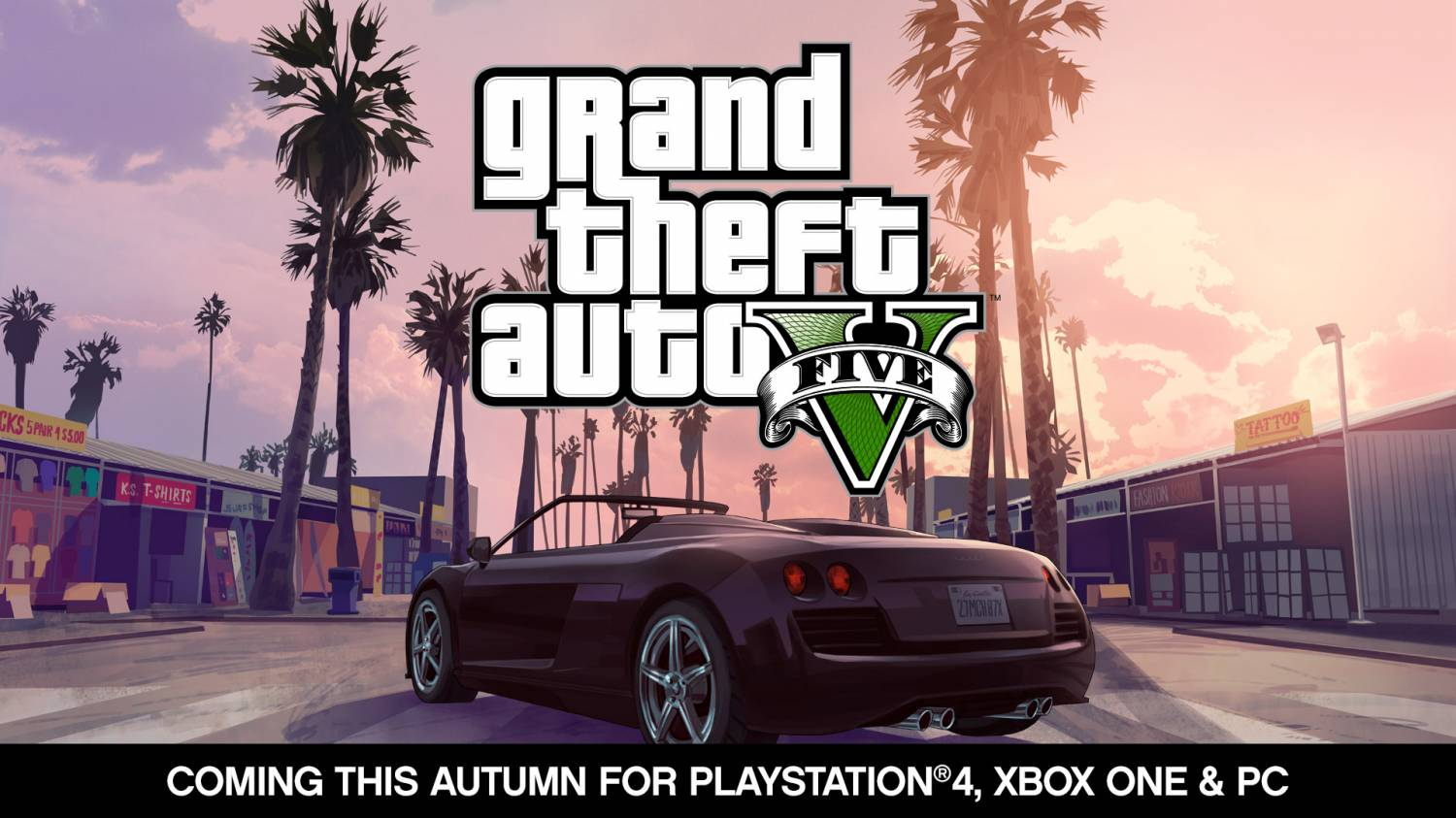 Музыка и видеоролик из промо Rockstar - Grand Theft Auto V - (PlayStation4, Xbox One and PC this Fall)