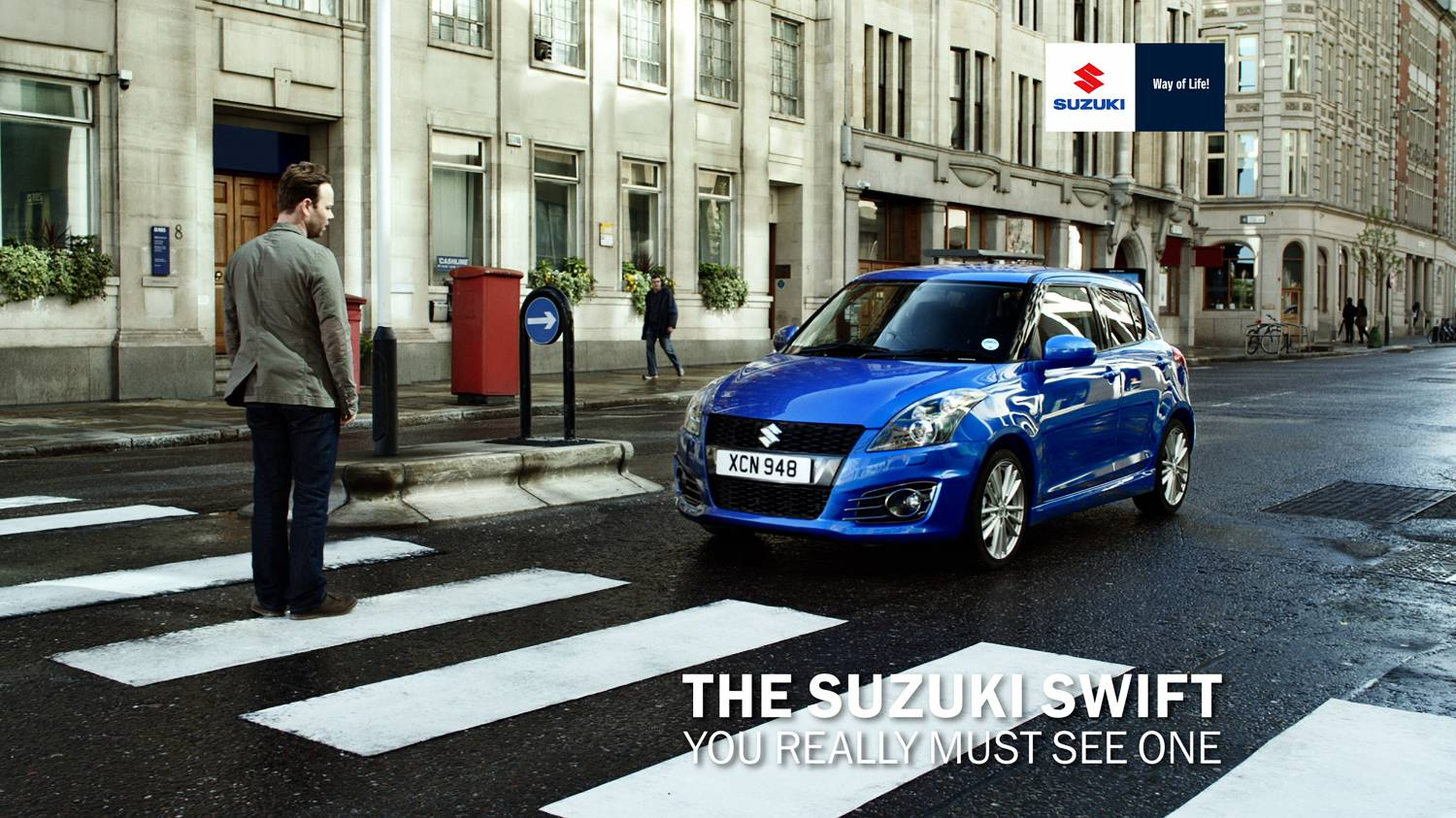 Музыка и видеоролик из рекламы Suzuki Swift - You really must see it