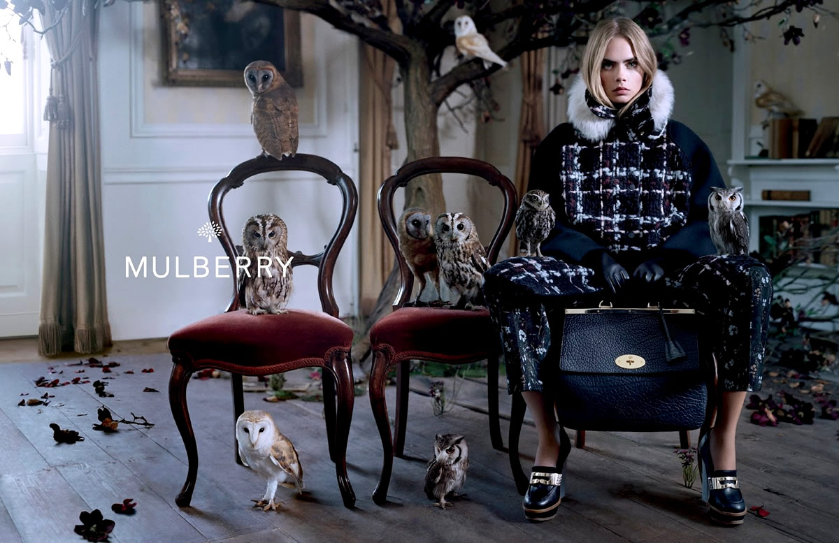 Музыка и видеоролик из рекламы Mulberry -  Autumn Winter 2014  (Cara Delevingne)