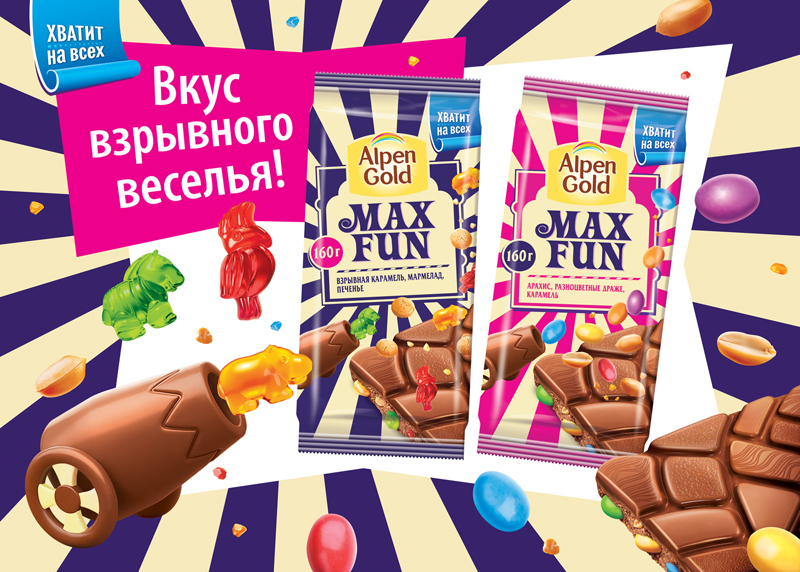 Музыка из рекламы Alpen Gold Max Fun - Музей