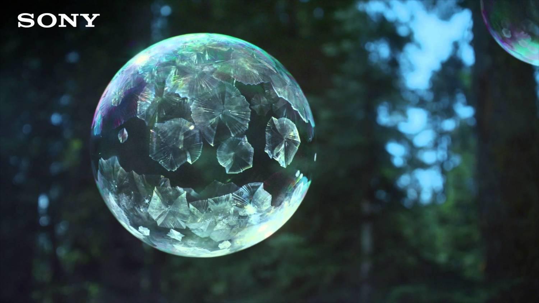 Музыка и видеоролик из рекламы Sony 4K Ultra HD TV - Ice Bubbles in 4K