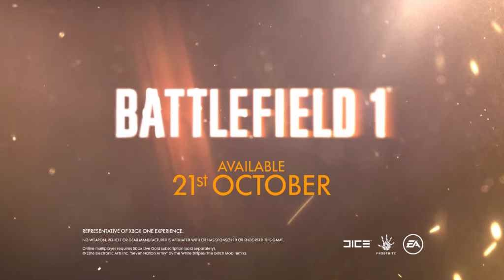 Музыка из рекламы Electronic Arts - Battlefield 1 (2016