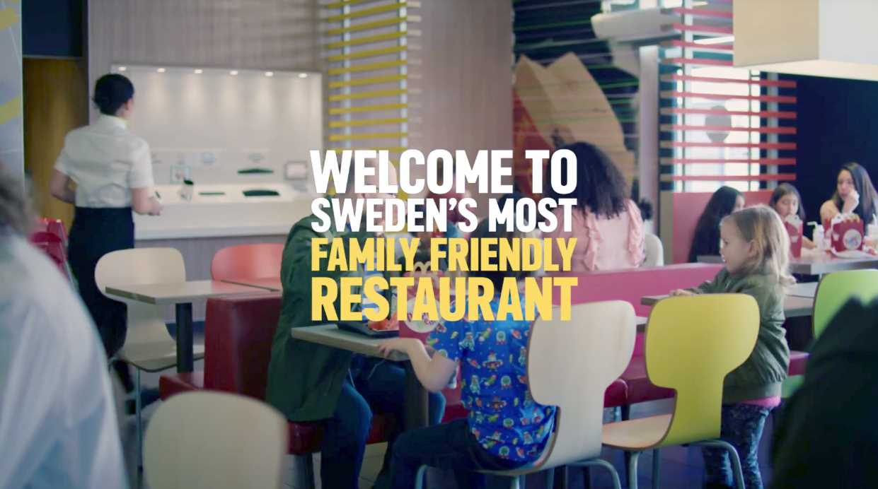 Музыка из рекламы McDonalds – Sweden's most family friendly restaurant